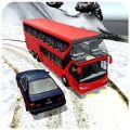 冬天公共汽车雪模拟器3D游戏