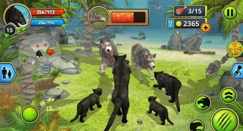 豹子家族模�M器破解版(Panther Family Sim)  v2.7.2�D3