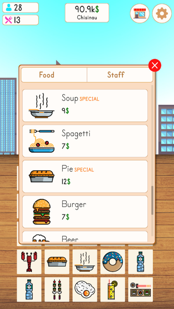 快餐厅大亨游戏安卓版  v1.0图1