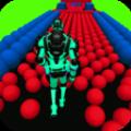 机器人弹球方块3D