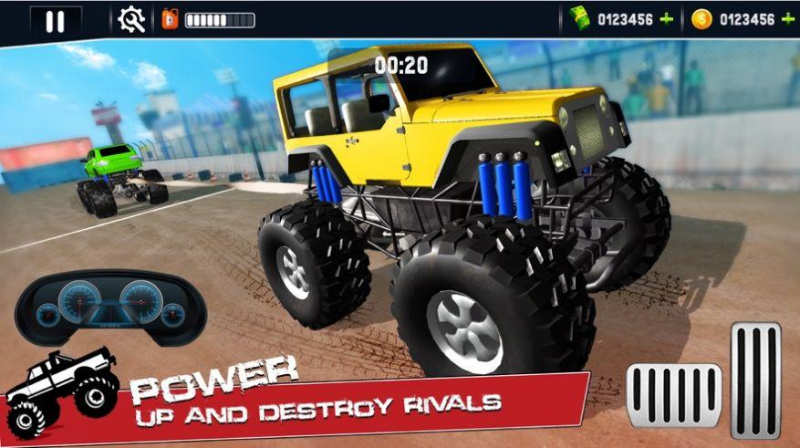 怪物卡车拔河模拟游戏无限金币破解版  v1.0图1