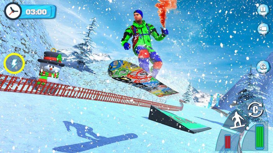 滑雪板滑雪比赛2020游戏安卓版  v1.0图2