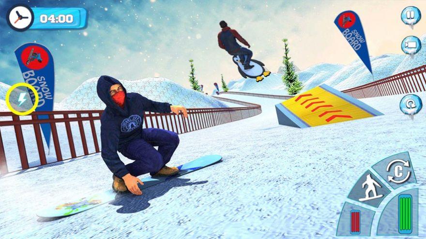 滑雪板滑雪比赛2020游戏安卓版  v1.0图1