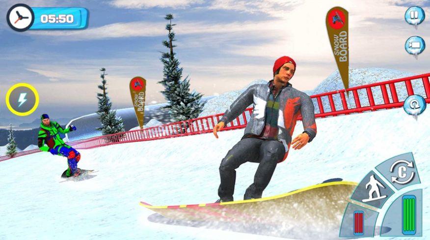 滑雪板滑雪比赛2020游戏安卓版  v1.0图3